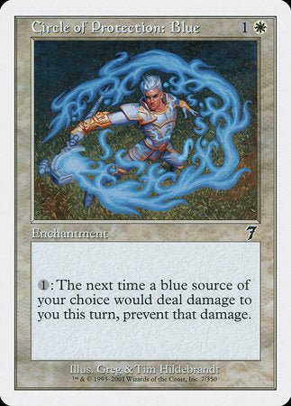 Circle of Protection: Blue [Seventh Edition] | Matrix Collectibles