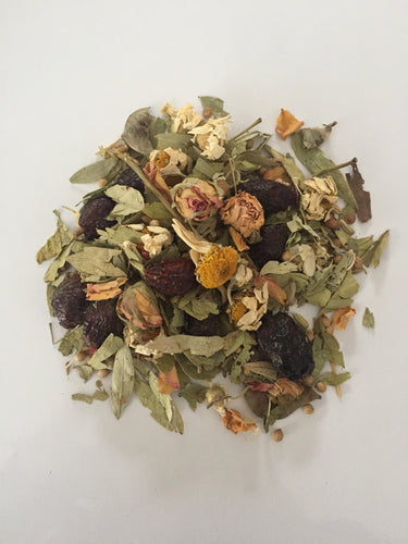 Metabolize and detox with Skinny Tea. Herbs, spice, and fiber.  50 grams | loose leaves | packaged in reusable tin.