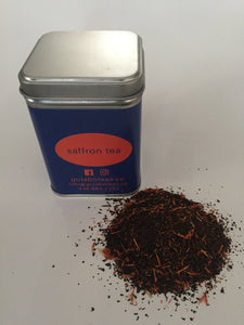 Enhance your mood, libido, and memory with Saffron Tea. Rich in antioxidants and flavor.  50 grams | loose leaves | packaged in reusable tin.