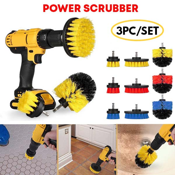 Rotating Power Brush (3 Piece Set)