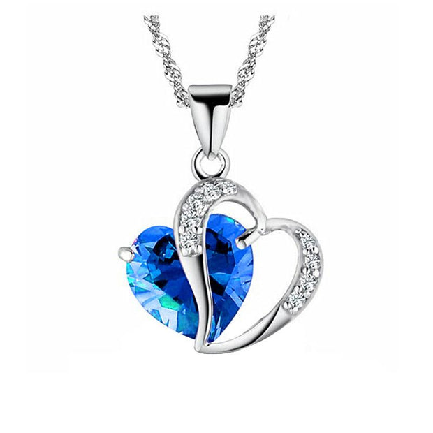 Love Heart Stone Bead Necklace With Variety Colors - Gadget Best Shop