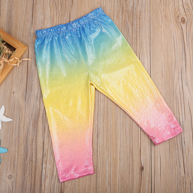 Toddler Kids Girl Colorful Gradient Pant Sequins - Gadget Best Shop