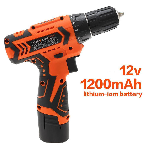 Electric Drill Tool Rechargeable Cordless