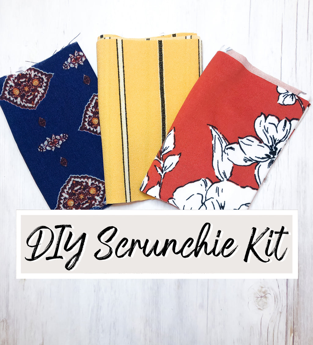 DIY Scrunchie Kit #42 Premium Fabrics