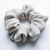 Almond Linen Scrunchie