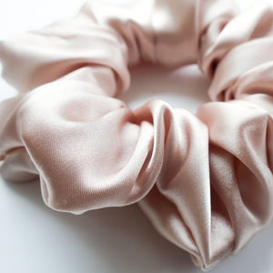 Champagne Satin Scrunchie