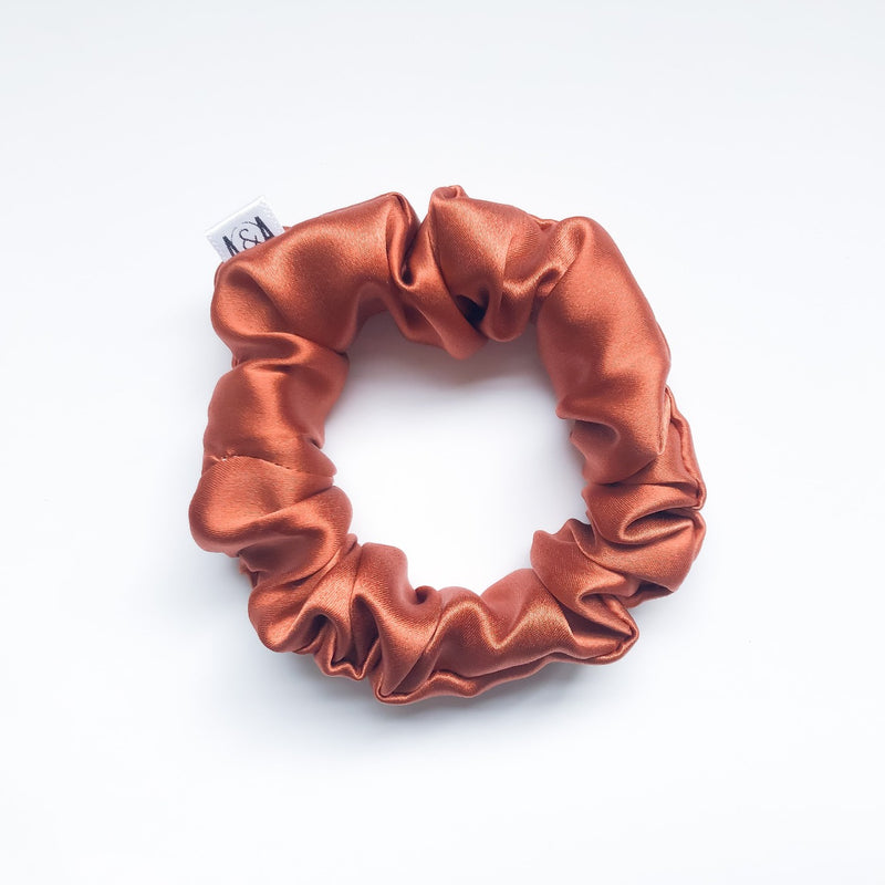 MINI Copper Silk Scrunchie