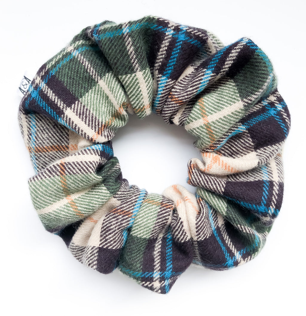 Dad Plaid Scrunchie