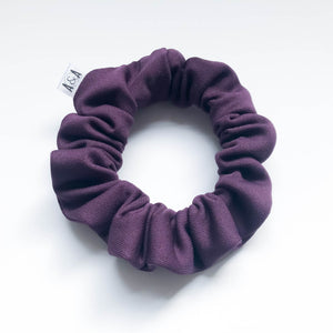 MINI Eggplant Hot Yoga Scrunchie