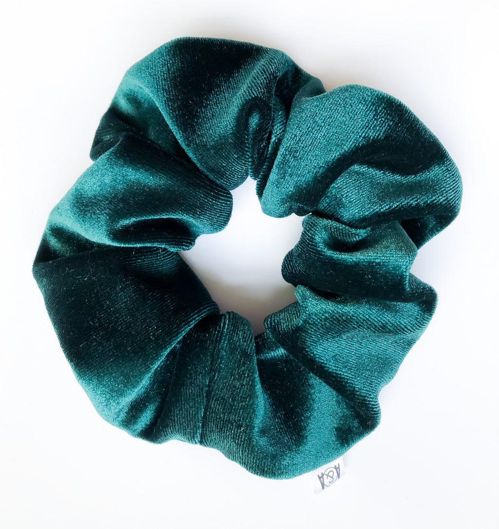 Emerald Velvet Scrunchie