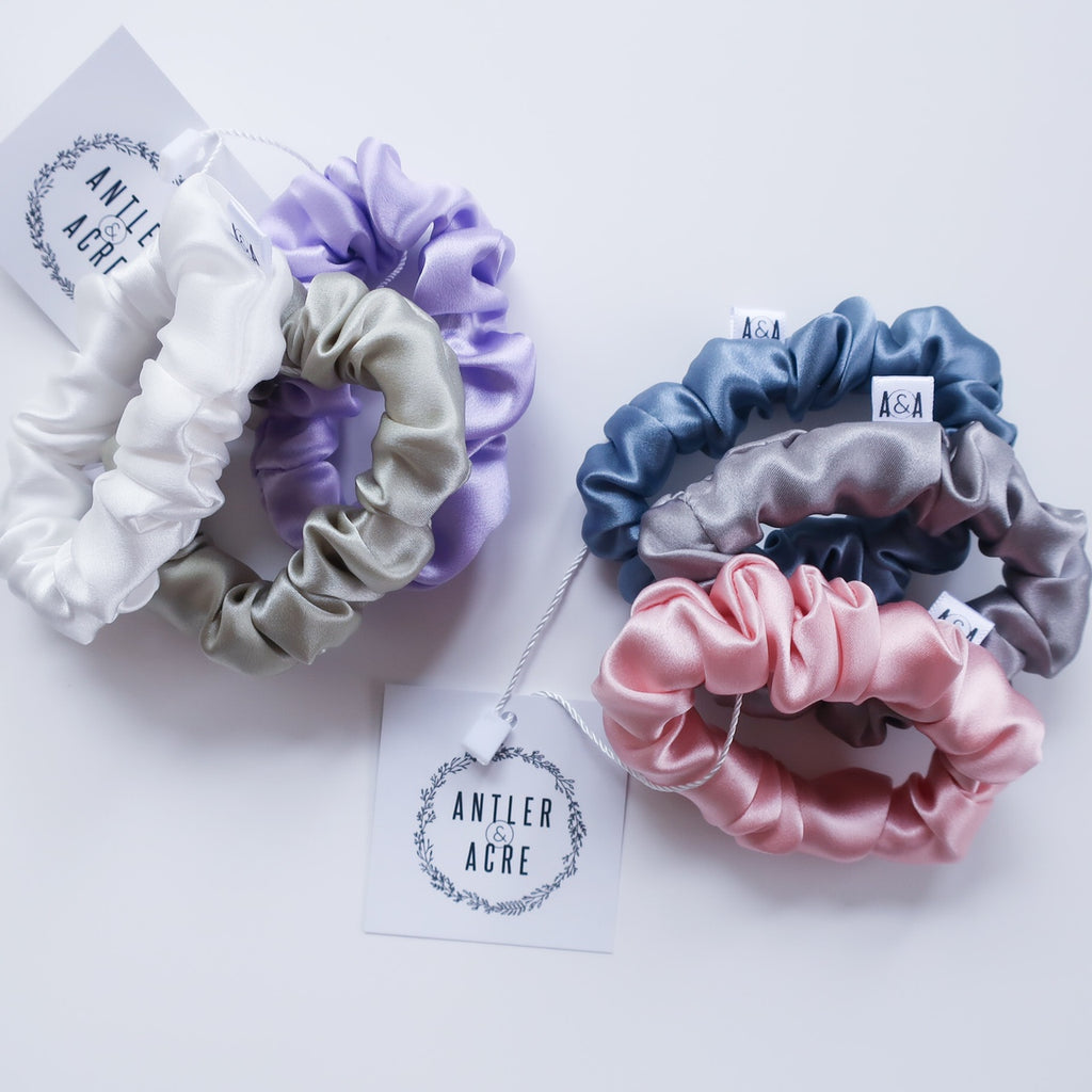 Mystery Silk MINI Scrunchie Set