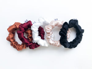 MINI Red Silk Scrunchie