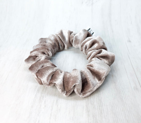 MINI Mauve Velvet Scrunchie