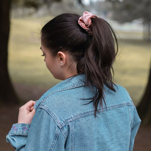 Rose Gold Velvet Scrunchie