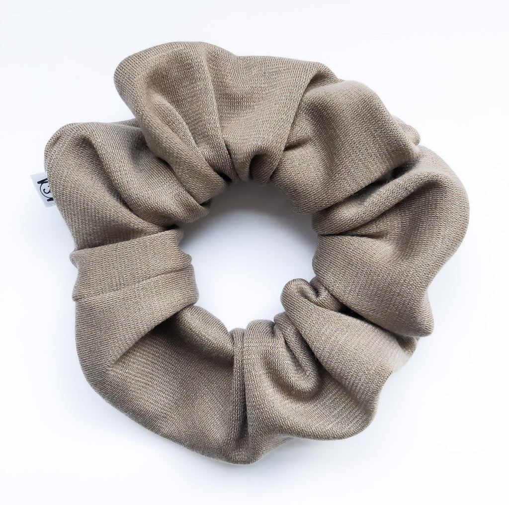 Taupe Knit Scrunchie