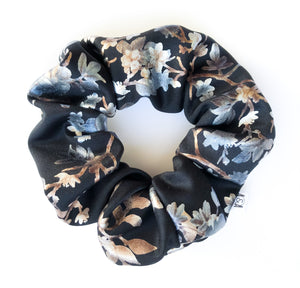 Winter Floral Scrunchie
