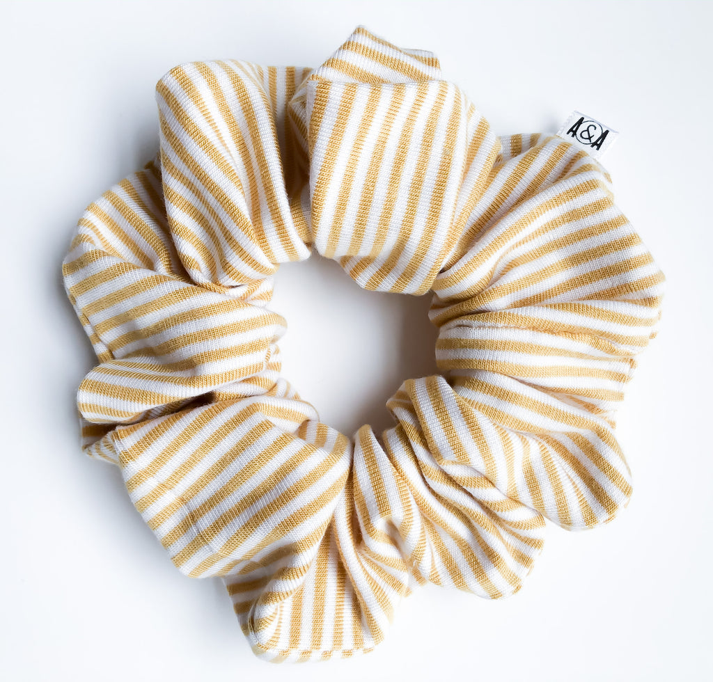 Yellow Pinstripe Scrunchie