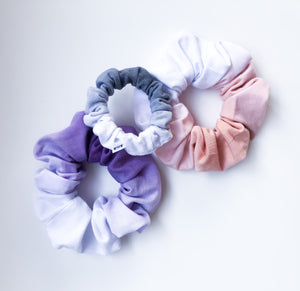 Charcoal MINI Ombre Dip Dye Scrunchie