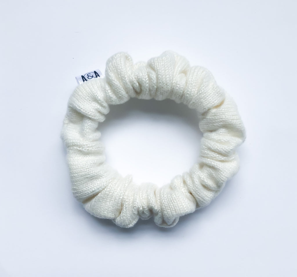 MINI Ivory Sweater Scrunchie