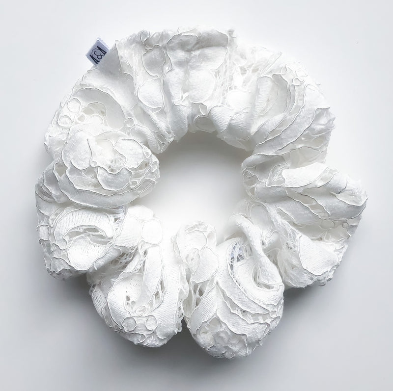 Bone Lace Scrunchie