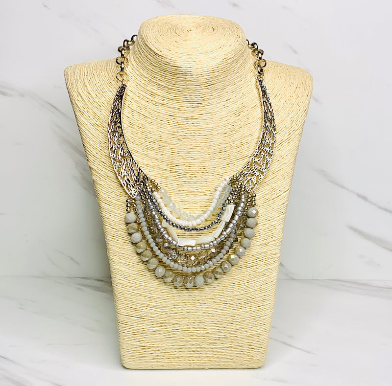 Lady Silver Multi-strand Necklace