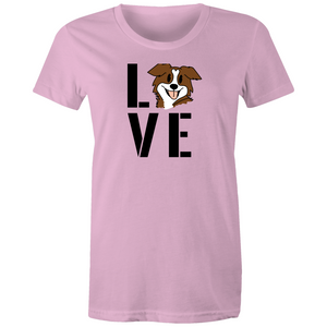 """Love your Dog"" Sportage Surf - Womens T-shirt"