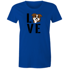 "Load image into Gallery viewer, ""Love your Dog"" Sportage Surf - Womens T-shirt"