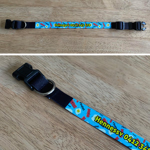Personalised Dog Collar - Bacon n' Eggs
