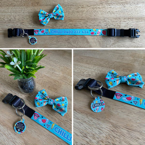 Personalised Dog Collar - Cartoon Pop