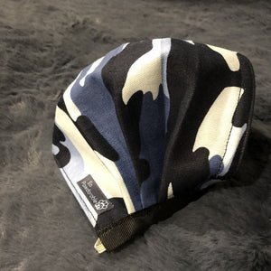 "ADULT ""Blue Camo"" Washable Face Mask"