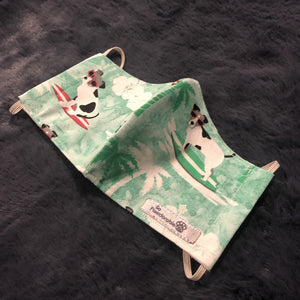 "CHILD ""Surfing Dog"" Washable Face Mask"