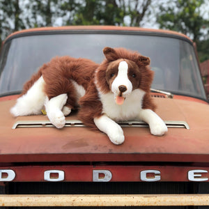"Plush Pet - Brown Collie - ""Fudge"""