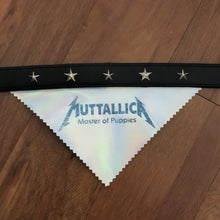 Load image into Gallery viewer, MUTTALLICA - Master of Puppies Holographic Bandana with Collar