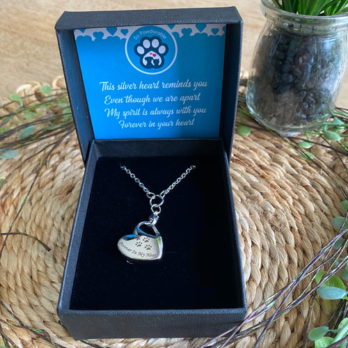 Pet Memorial Forever in my Heart Urn Pendant Necklace