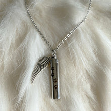 Load image into Gallery viewer, Pet Memorial Angel Wings Urn Pendant Necklace