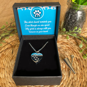Pet Memorial Footsteps Urn Pendant Necklace