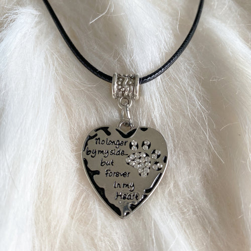 Pet Memorial By My Side Pendant Necklace