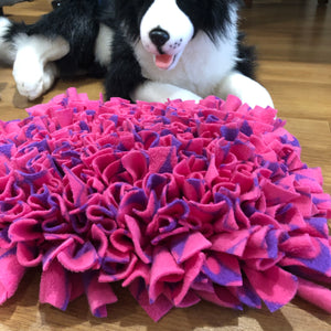 Snuffle Mat Pink and Purple Hearts - Medium