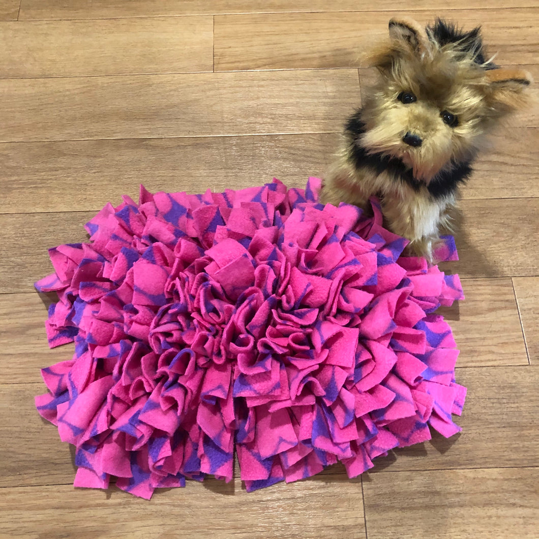 Snuffle Mat Pink and Purple Hearts - Small