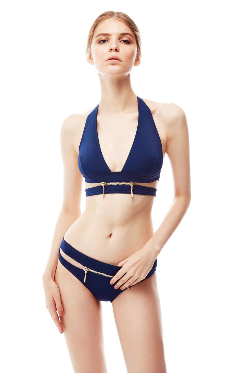 X-Type Bikini with Zipper