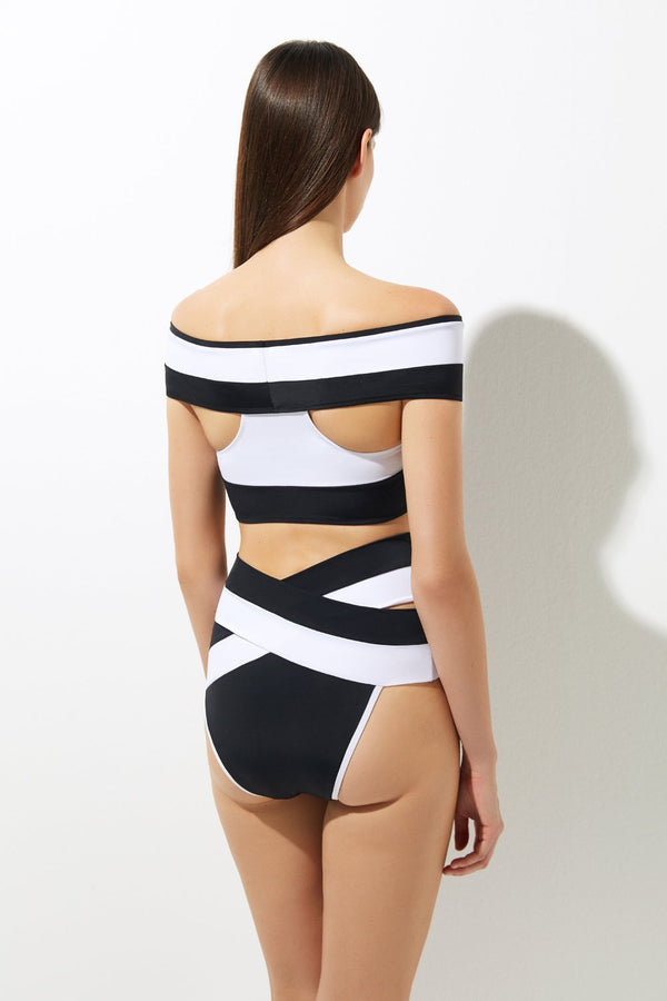 Lucette Double B&W - OYE Swimwear