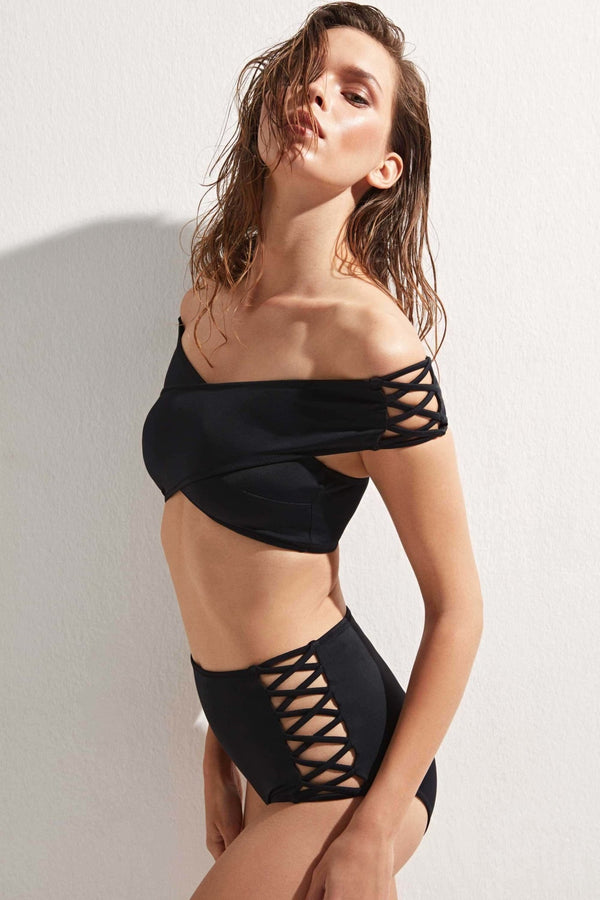 Lucette Lace Up - OYE Swimwear