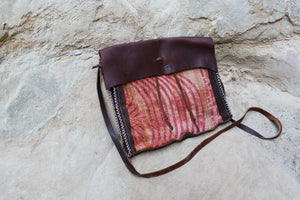 Kantha Quilt + Leather Satchel