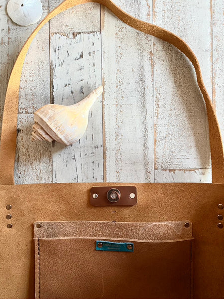 Luna Tote in Whiskey