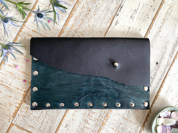 Textured Two Tone Clutch