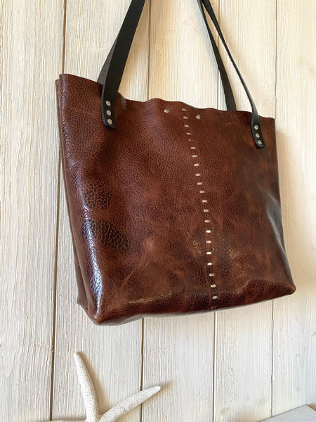 Luna Tote in Chocolate ~ Small