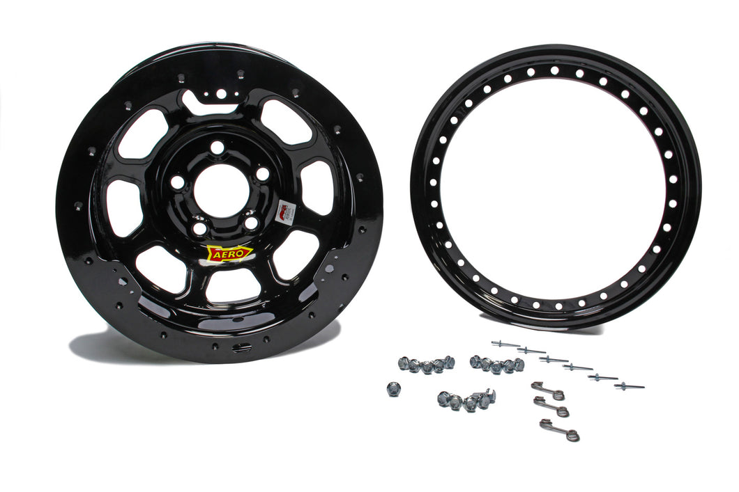 15x8 4in 5.00 Black w/ Black Ring