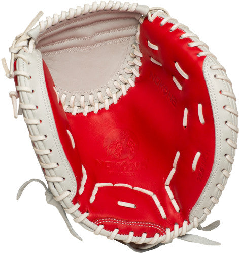 Nokona SKN-V2-WH 32.5 inch Fastpitch Catchers Mitt - Baseball Bargains 6925ae3a54