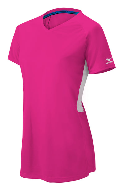 Mizuno Womens Comp Short-Sleeve V-Neck Jersey
