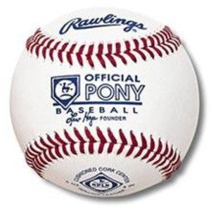 Rawlings - Official Pony League Competition Grade Baseball - RPLB1
